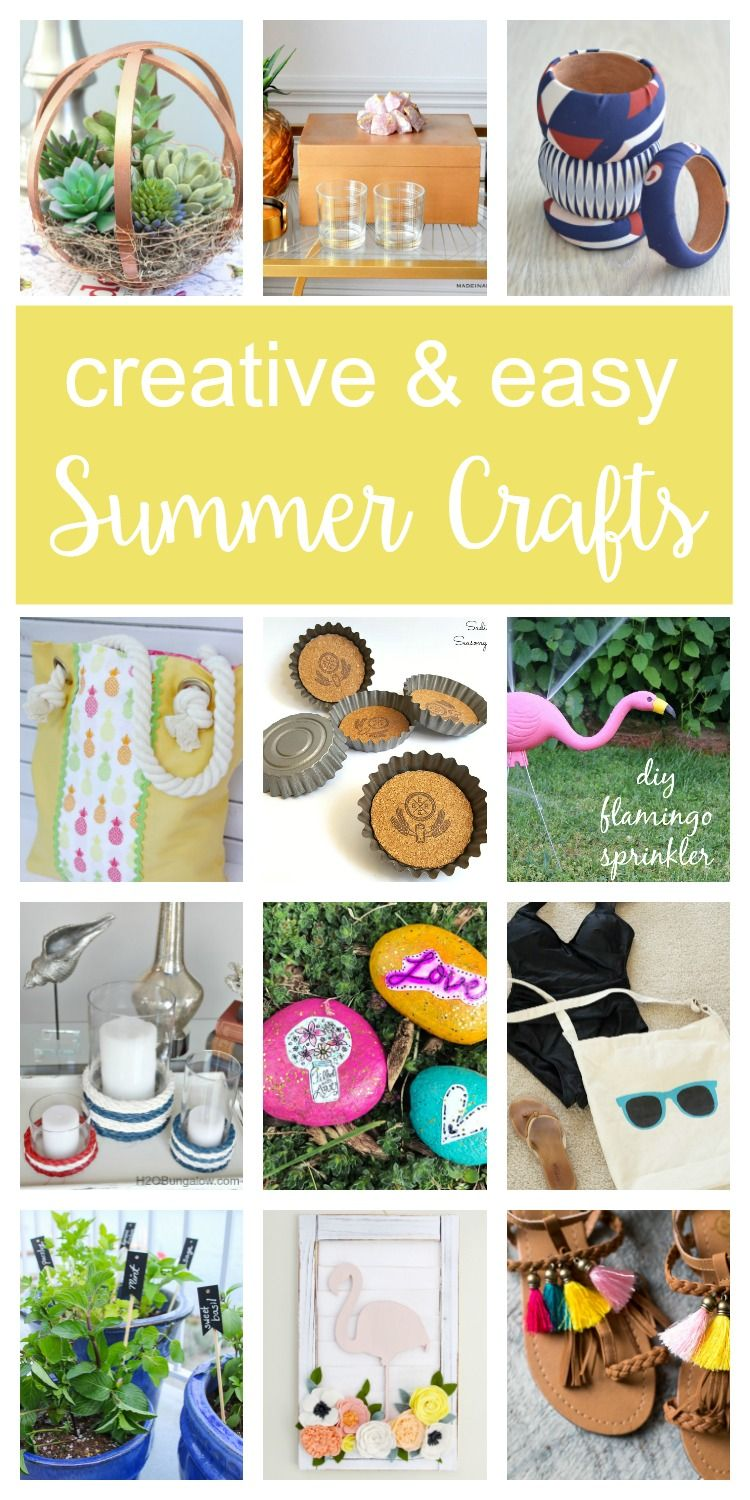 Summer Crafts Ideas Merry Monday 157 Crafts Diy Crafts For