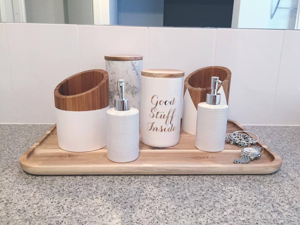 a clever use of kitchen pieces in the bathroom kmart