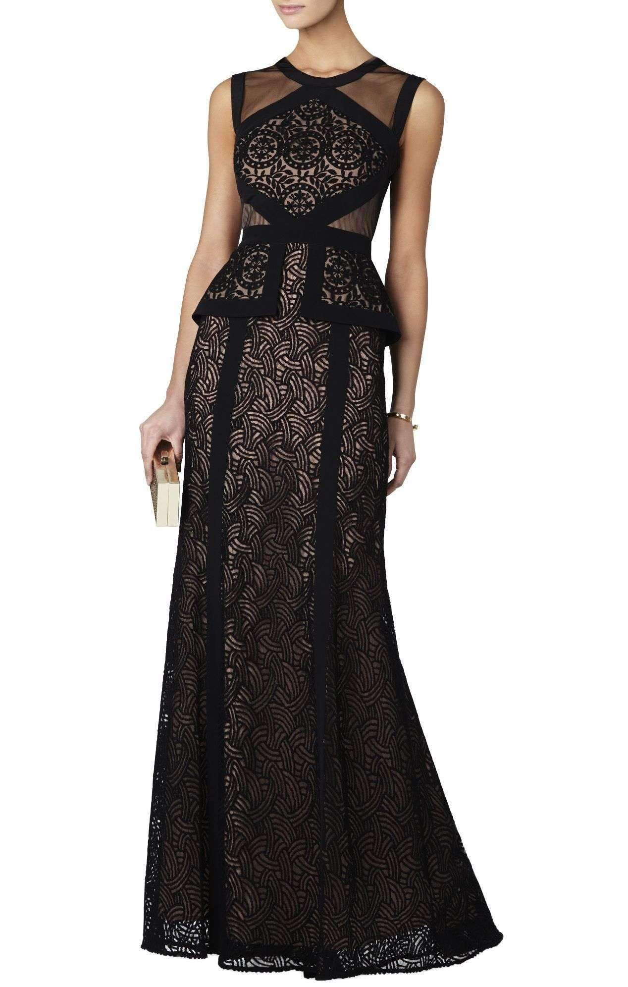 347d5f925496 BCBGMaxazria Viviana Sleeveless Peplum Gown Dress in 2019 | Products ...