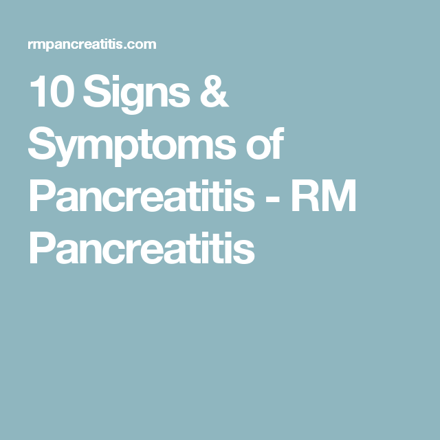 Image Result For Signs And Symptoms Of Pancreatic American Society