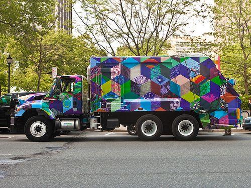 Garbage Truck Phl Garbage Truck Mural Art Trucks