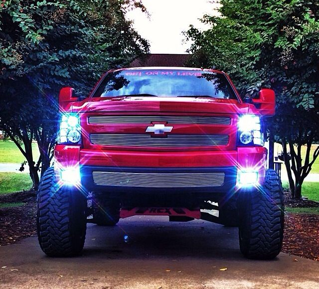 Lifted Red Chevy