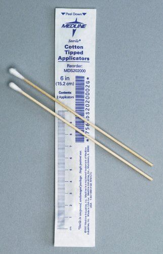 Sterile Cotton Tipped Applicators 2000 Ea By Medline 11 11 2 Pack Box Of 200 6 Sterile Economical Applicators Come In T Cotton Beauty Tool Sterile