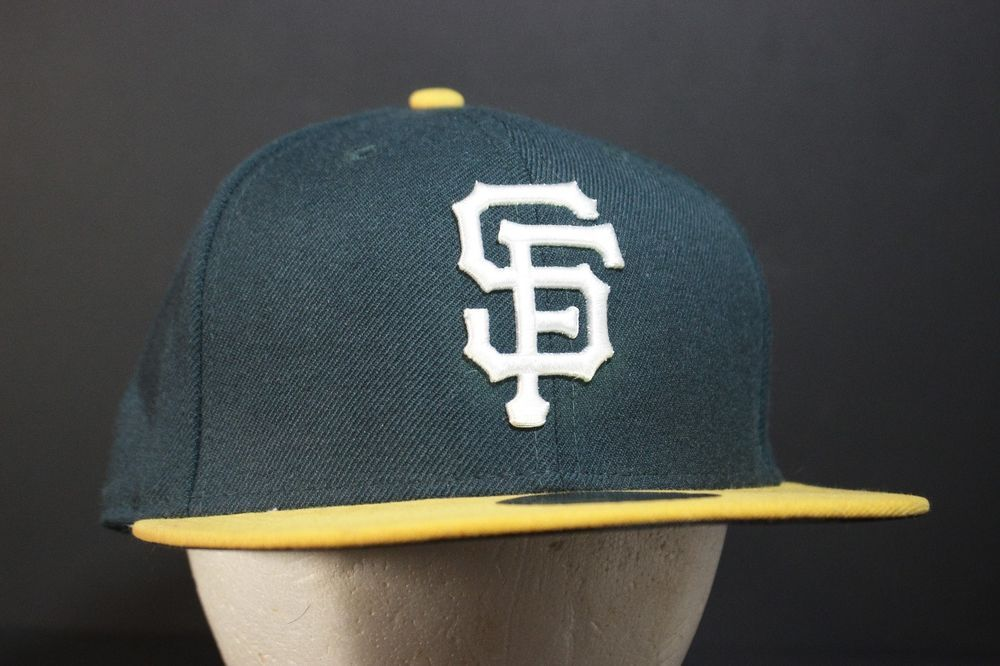 8184a27d8b736 San Francisco Giants Hat Baseball Cap Fitted 7 1 8 Oakland A s Athletics  Colors  Athletics  sfgiants  NewEra