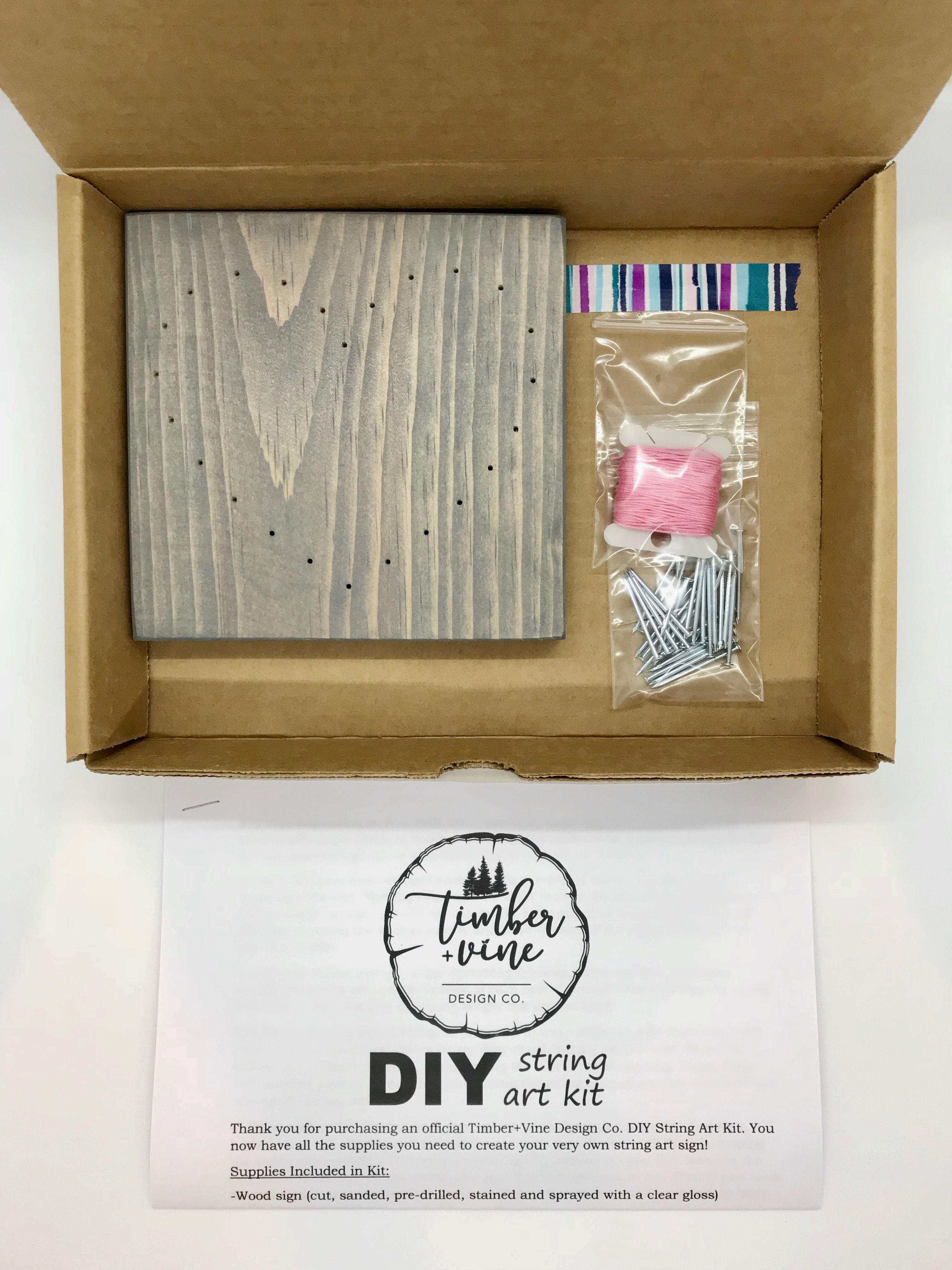 Handmade Diy String Art Kit, Wood Sign Craft Kit, Beginner
