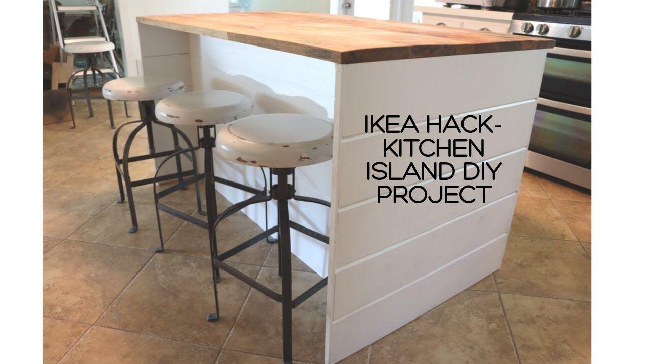 Ikea Hack Diy Ikea Kitchen Island Shiplap Sides Thrifted Wood Countertop Youtube Information In 2020 Ikea Kitchen Island Kitchen Island Ikea Hack Diy Kitchen Island