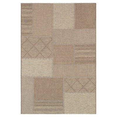 Couristan Tides Rockville Indoor / Outdoor Area Rug Cream/Cocoa - 01420091020037T