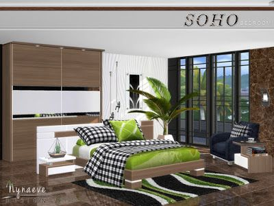 The Sims 4 Mody Sypialnia SOHO od Nyaeve Design