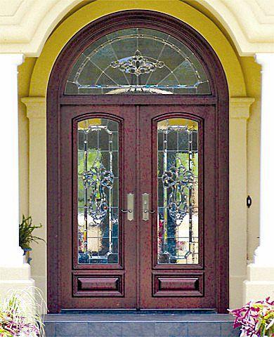 Custom Estate Double Leaded Glass Doors Wood Entry Doors By Decora Leaded Glass Door Entry Doors Mahogany Exterior Doors