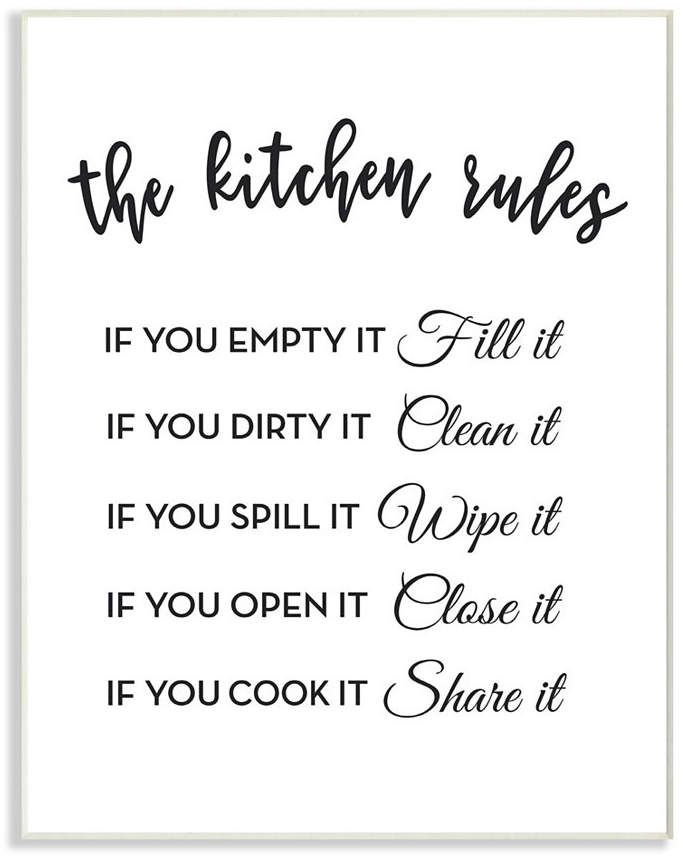 The Kitchen Rules If You… Wall Plaque Art, 10 x 15 #kitchenrules