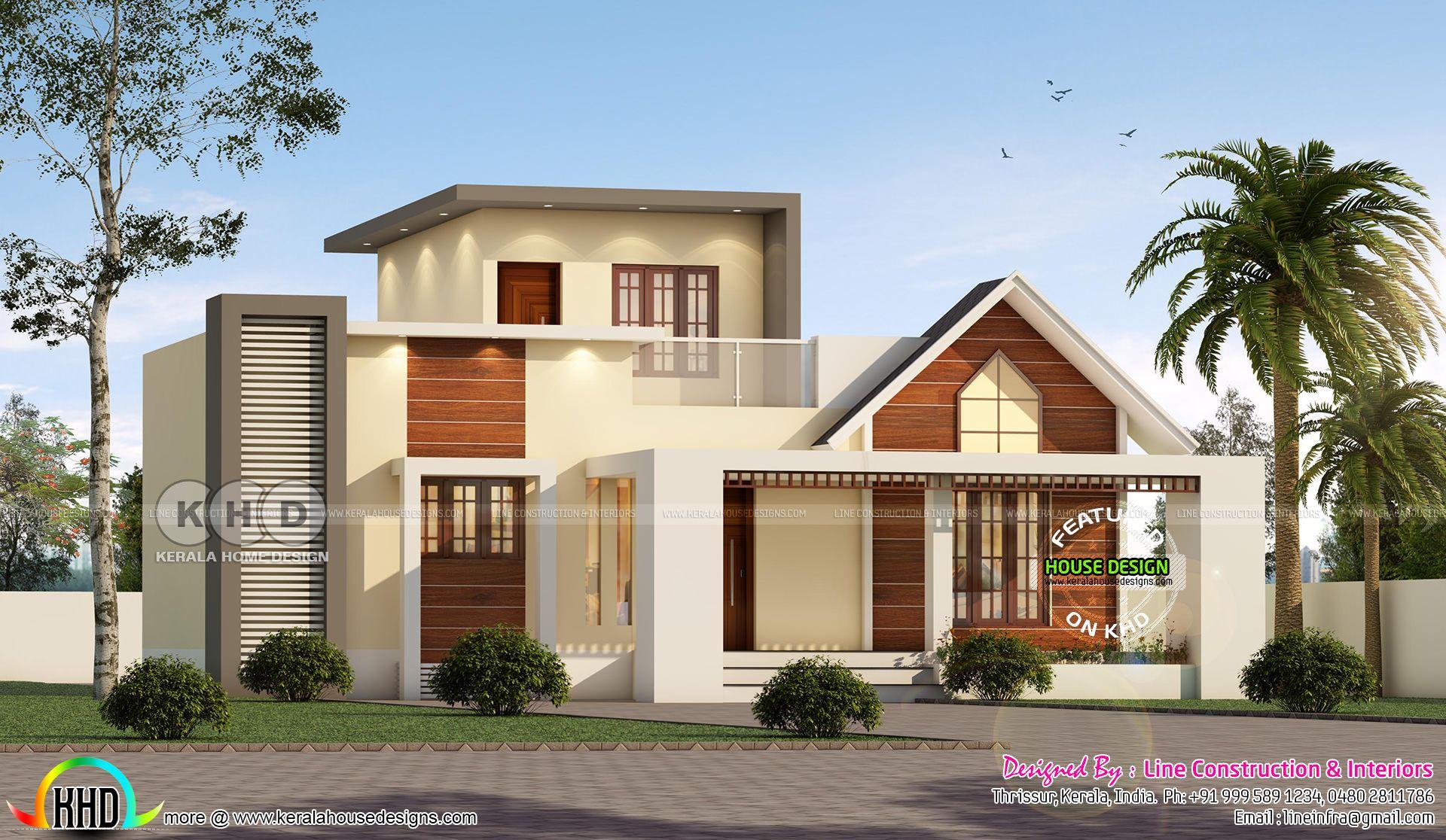 3 bedroom 1117 sqft home single storied in 2020 Kerala