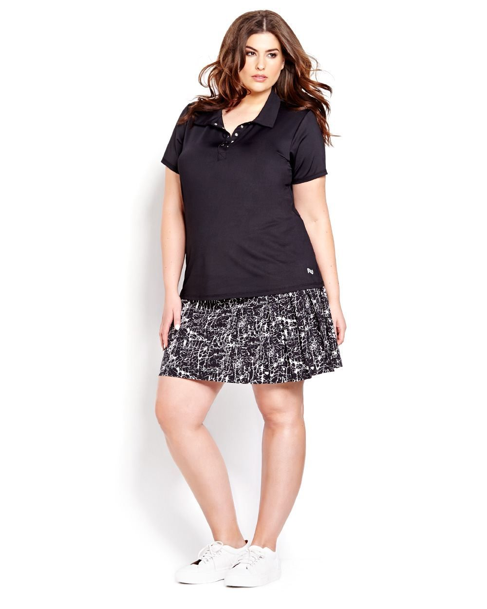 Nola Golf Pleated Printed Skort And Polo 95 For The Outfit