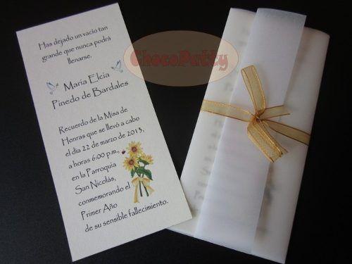 Tarjetas Para Invitación A Misa De Difuntos Para Imprimir
