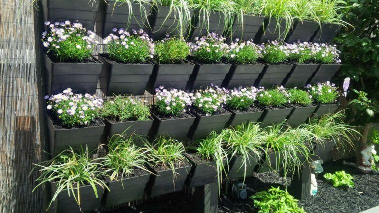 Jardineras verticales - ideas sencillas para colgar plantas - - jardineras verticales