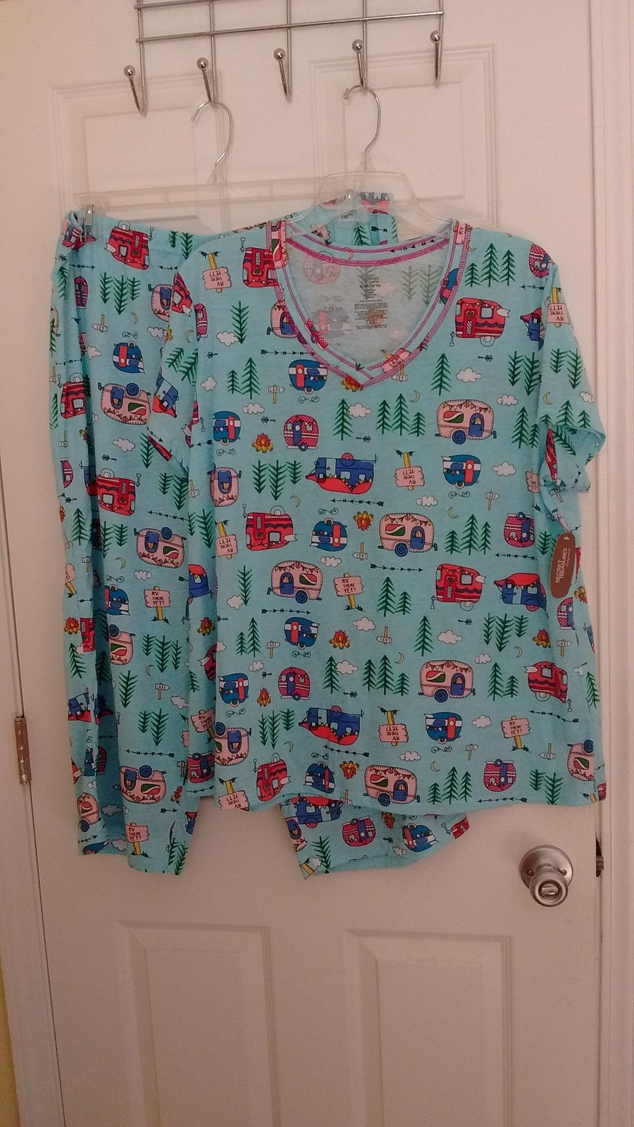1536215a7c Camping Pajamas RV There yet Camper PJ Sleepwear Ladies With Tag New with  Tags, definitely
