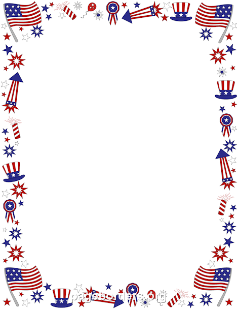 4th of july borders clip art