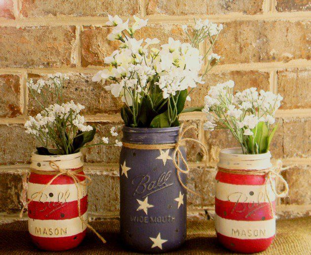 Mason Jar Home Decor 16 Amazing Handmade 4Th Of July Decorations For Last Minute Home