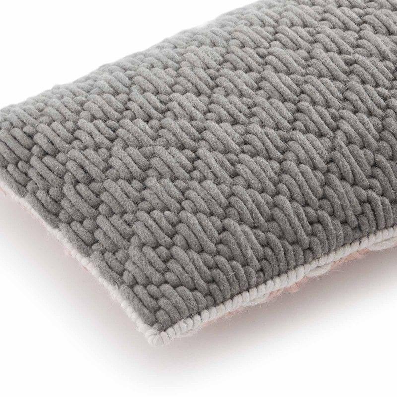 GAN Rugs   Cushion Silaï Rose-Light Grey - GAN´s Cushion