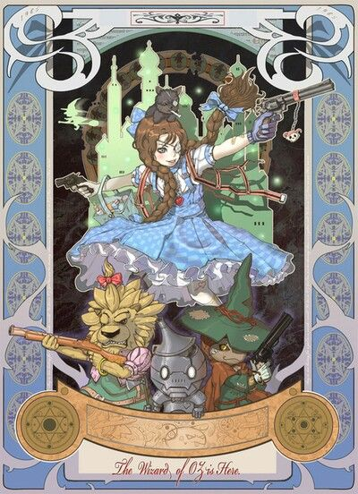 Steampunk Wizard of Oz. truly epically awesome.