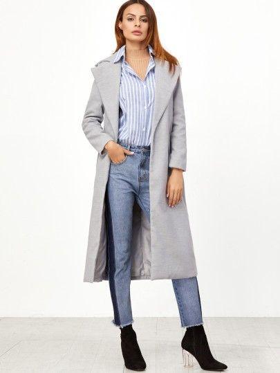 Lange Damen Mantel 2017 in Grau | Kleider online shop