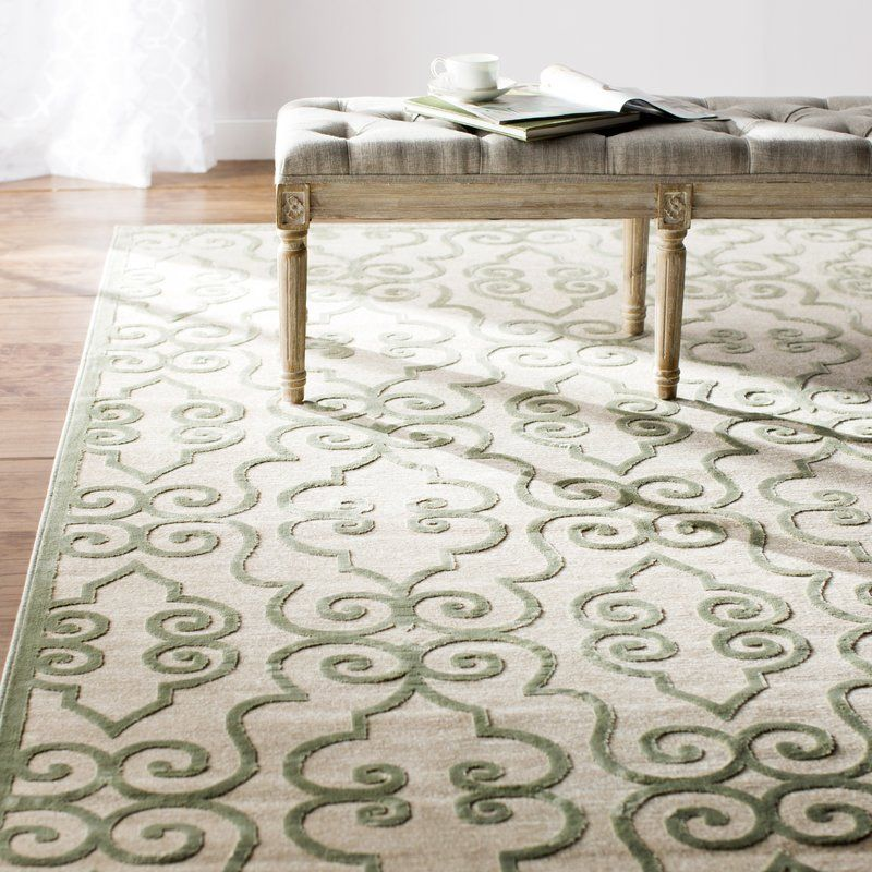 Rouleau Cream Area Rug With Images