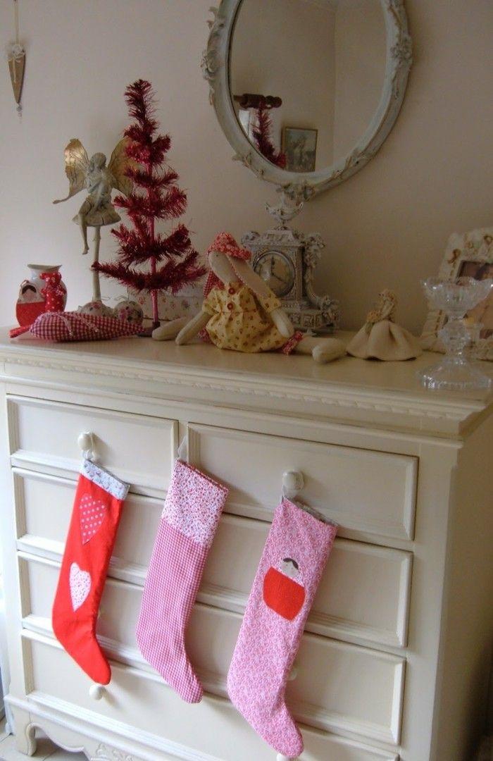 weihnachtsdeko nähen weihnachtsstrümpfe selber machen | Weihnachten ...