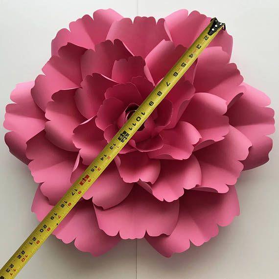 Paper Flowers Pdf Petal 137 Paper Flower Template With Etsy Paper Flower Template Paper Flowers Construction Paper Flowers
