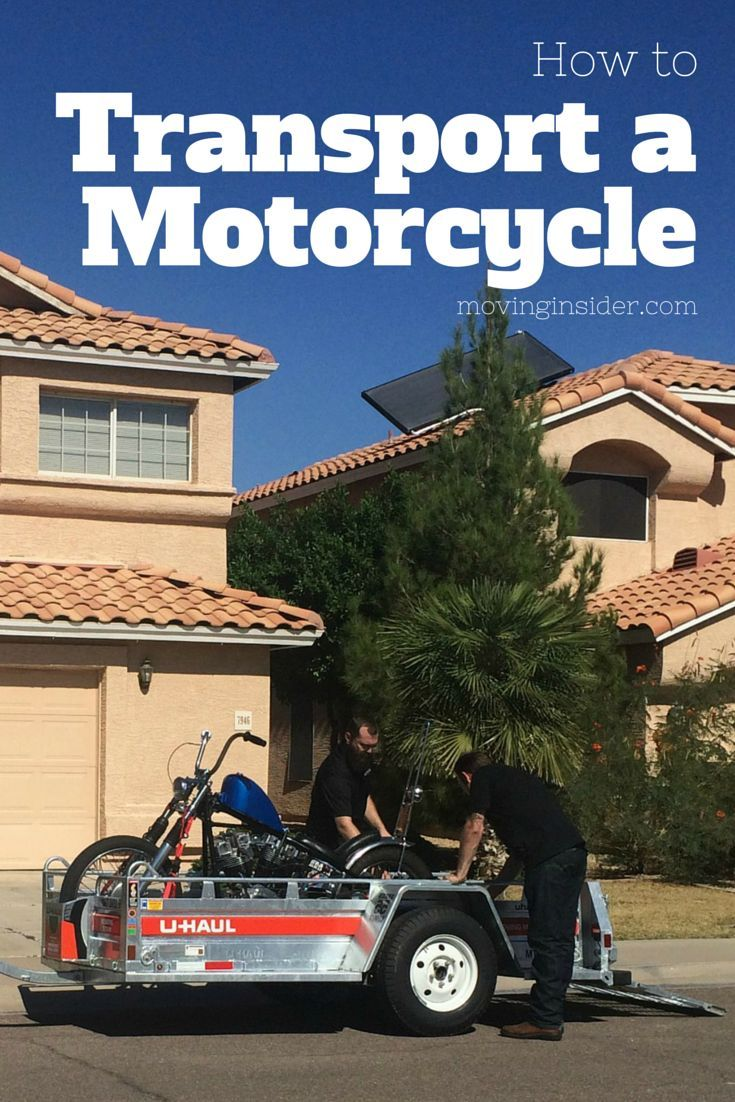 How to transport a motorcycle on a uhaul trailer