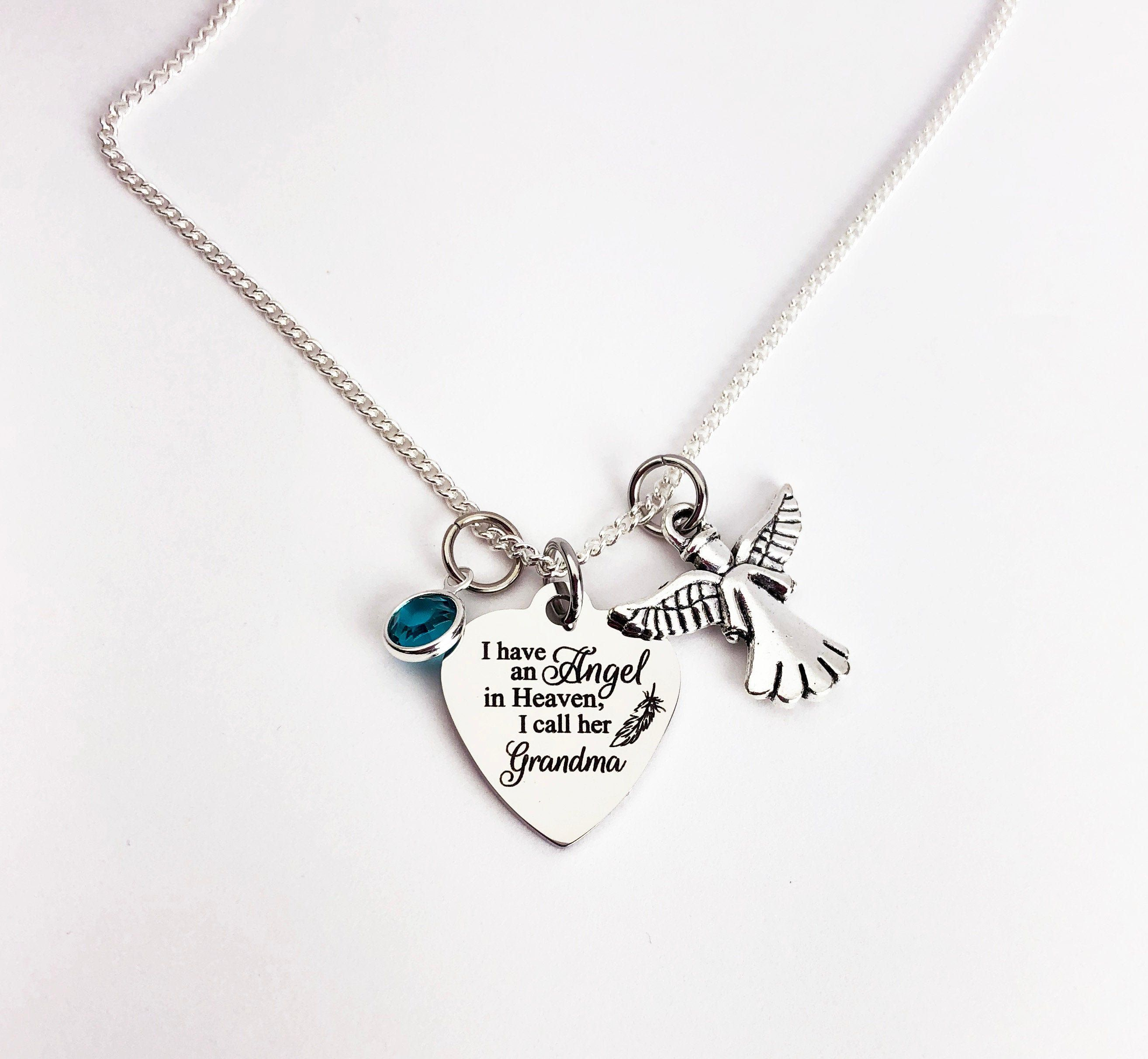 Grandma memorial jewelry memorial necklace memorial gift