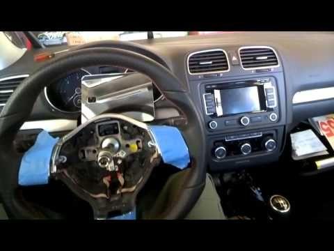 Volkswagen Golf GTI MK6 Steering Wheel & Airbag Removal/Swap/Replace