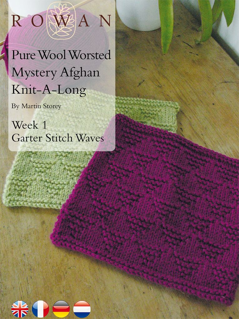 Pure Wool Worsted Mystery Afghan Knit-A-Long Week 1 Garter Stitch ...