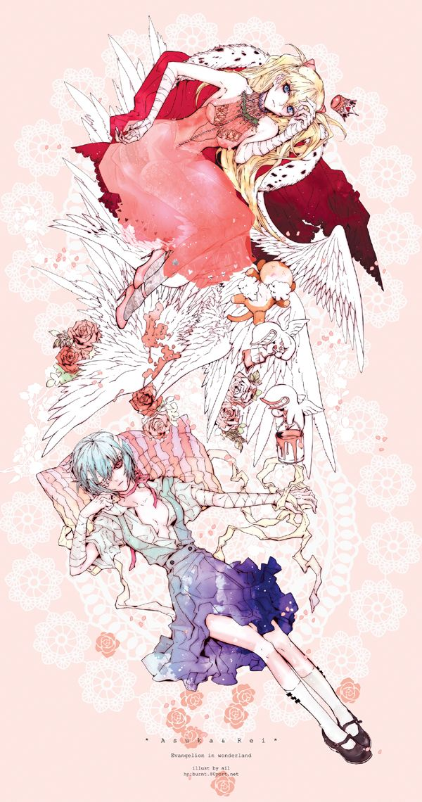NGE. Asuka x Rei Neon genesis evangelion, Evangelion, Anime