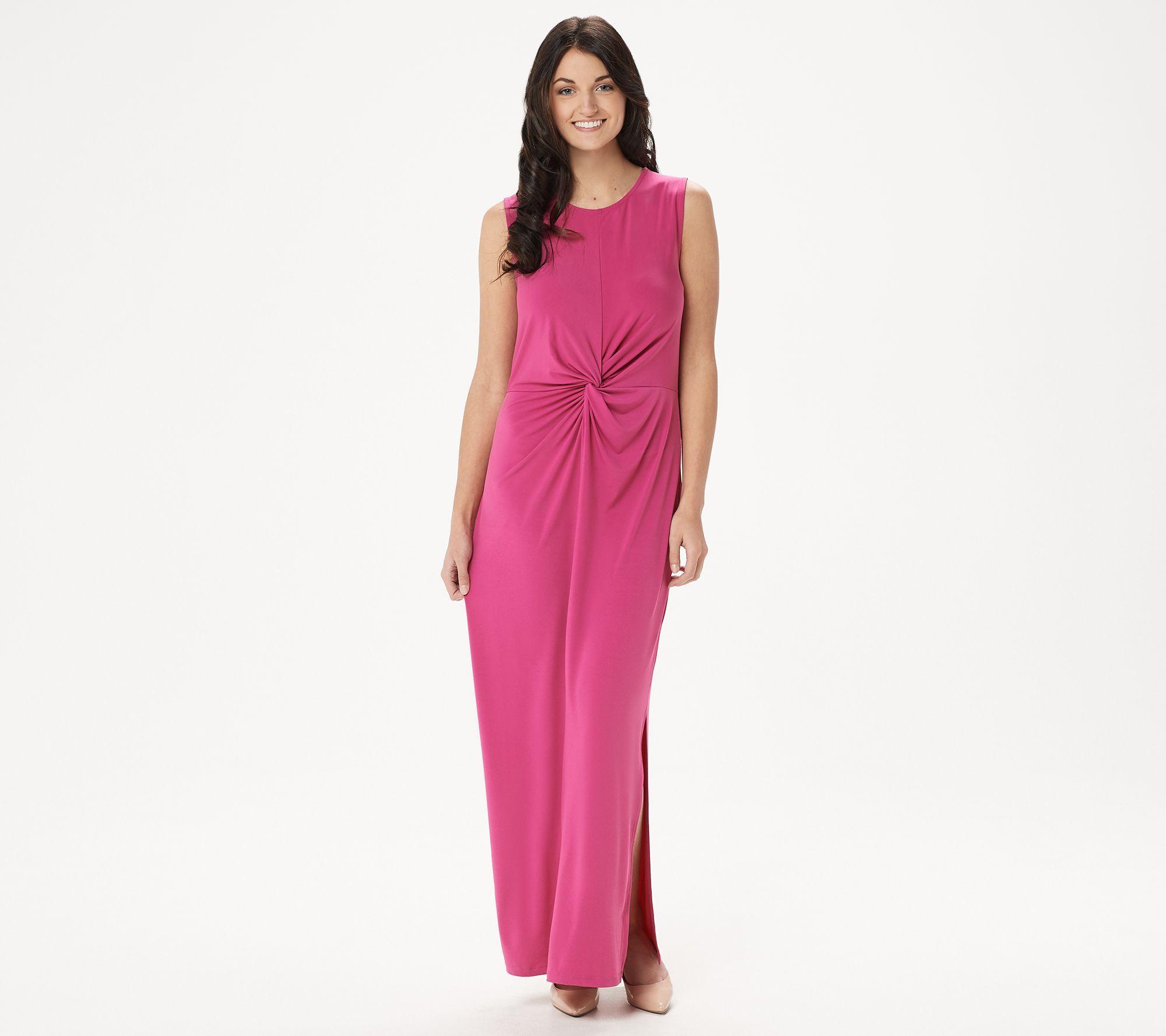 Brooke Shields Timeless Regular Sleeveless Maxi Dress W Twist Qvc Com Maxi Knit Dress Sleeveless Maxi Dress Dresses [ 1778 x 2000 Pixel ]