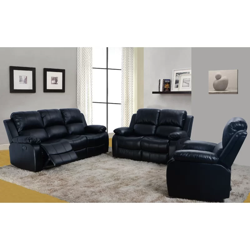Hartranft Reclining 3 Piece Living Room Set 3 Piece Living Room Set Living Room Leather Living Room Sets #reclining #3 #piece #living #room #set