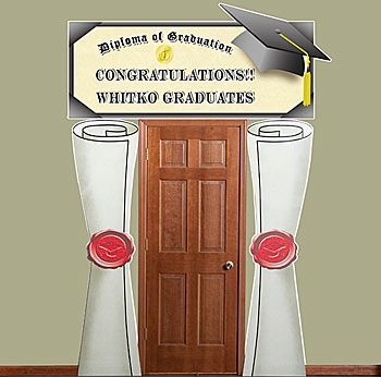 Graduation door decoration grad door decoration senior - Kindergarten graduation decorations ...