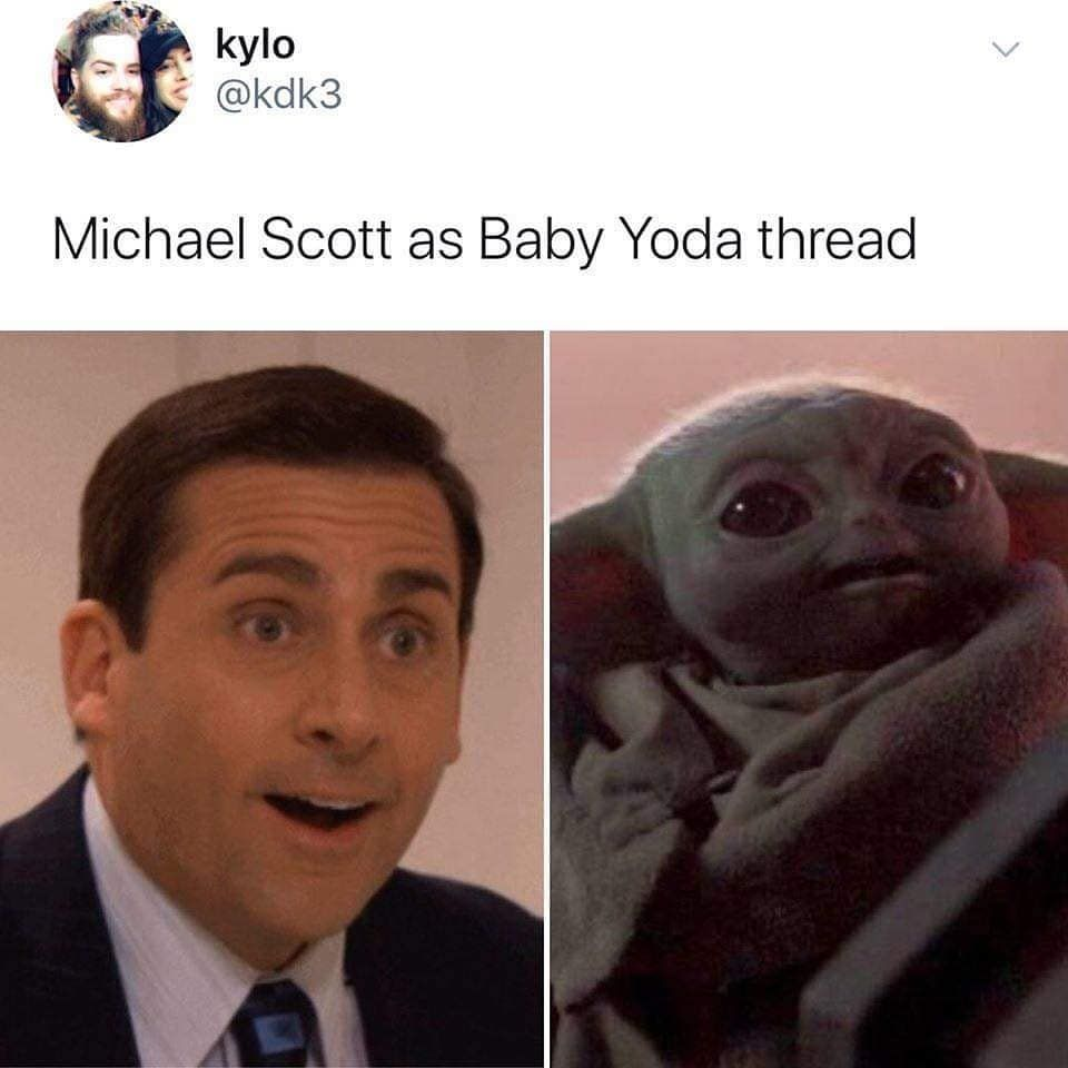 The Office Around The World On Instagram Via Kdk3 The Office Yoda Michael Scott