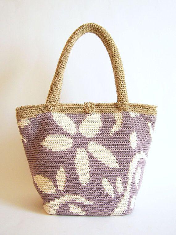 Patrón de gancho para bolso de flores. Practica por chabepatterns ...