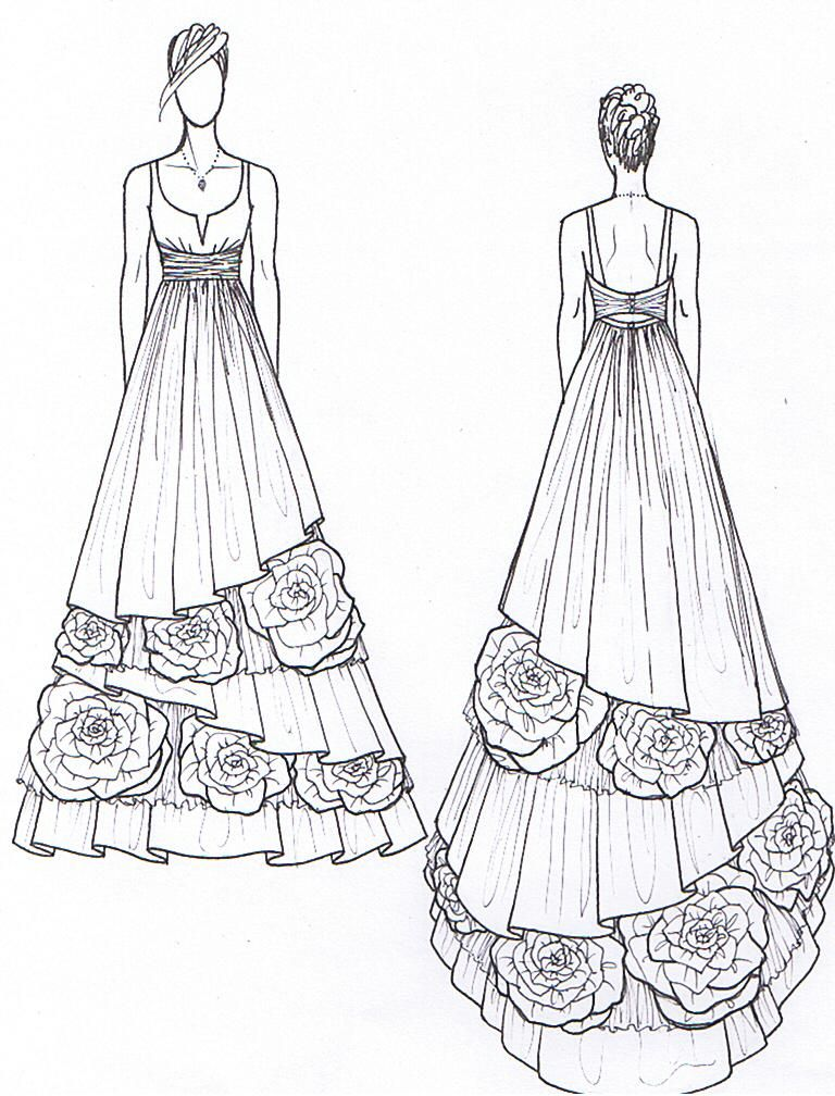 Janay A Handmade - 2011 Eco Wedding Gown Design Preview Sketch | Wedding Gown Sketches ...