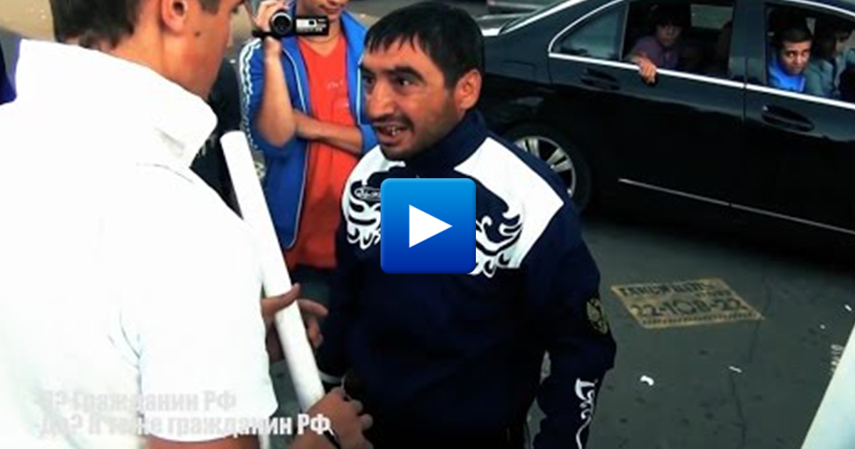 Watch: Arab migrant attacks women and children in Russia