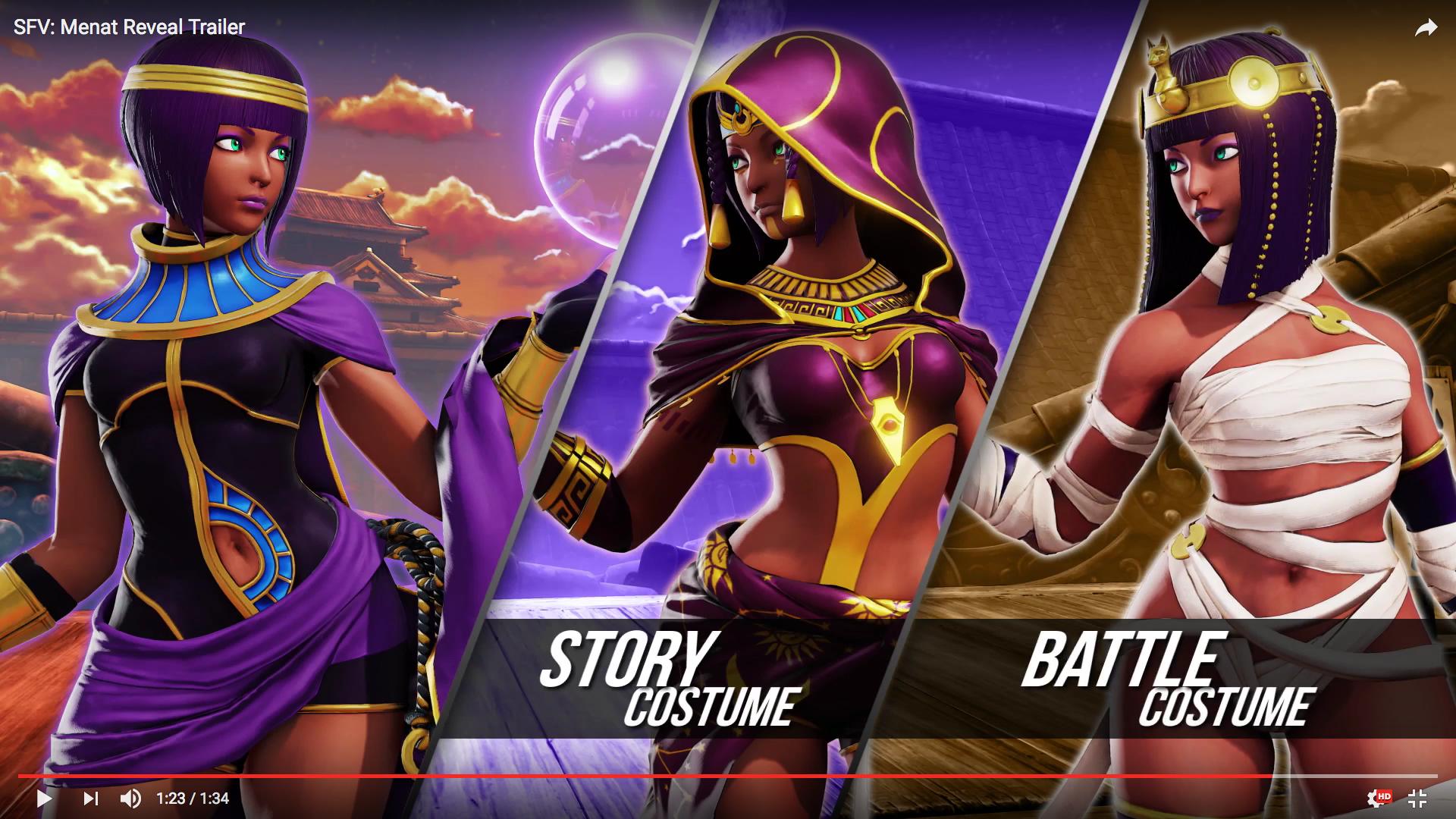 Street Fighter V Menat Trailer Neogaf New Street Fighter
