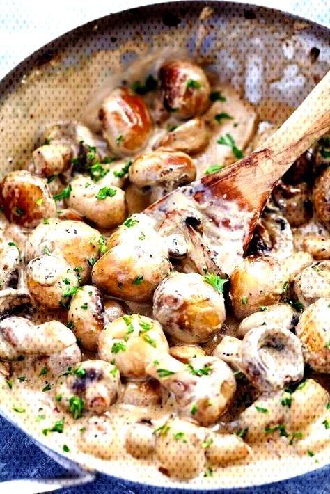 Creamy Garlic Parmesan Mushrooms - Recipes de - Creamy Garlic Parmesan Mushrooms – Recipes de -