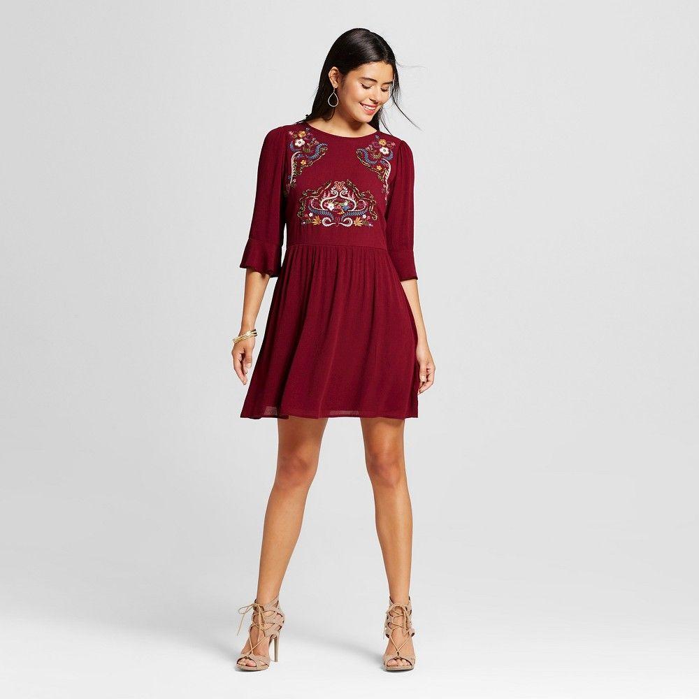 Womenus embroidered soutache babydoll dress b products pinterest