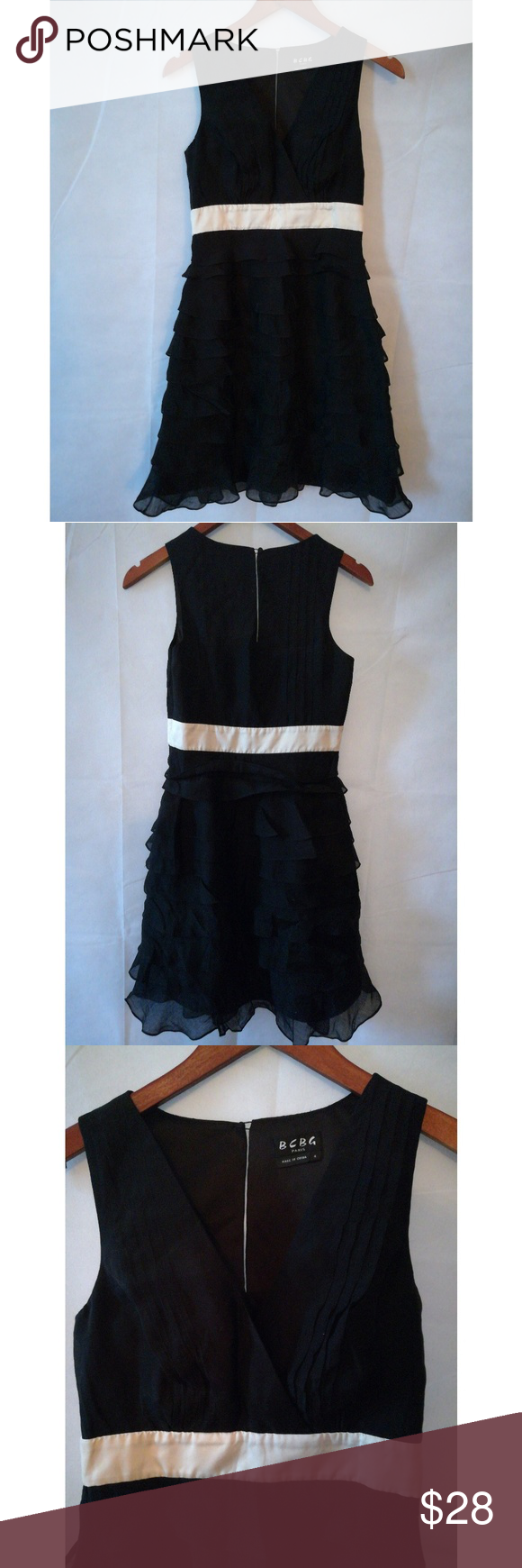 Bcbg Black Ruffled Dress Size 4 Bcbg Beautiful Black Dress Sleeveless With Sheer Ruffles On Bottom Black Ruffle Dress Beautiful Black Dresses Ruffle Dress [ 1740 x 580 Pixel ]