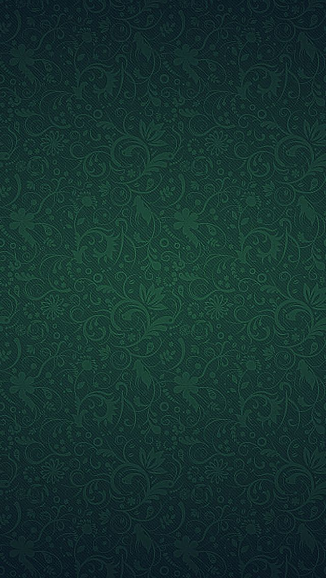 Green ornaments texture pattern iphone 5s wallpaper for Papeis paredes iphone 5s