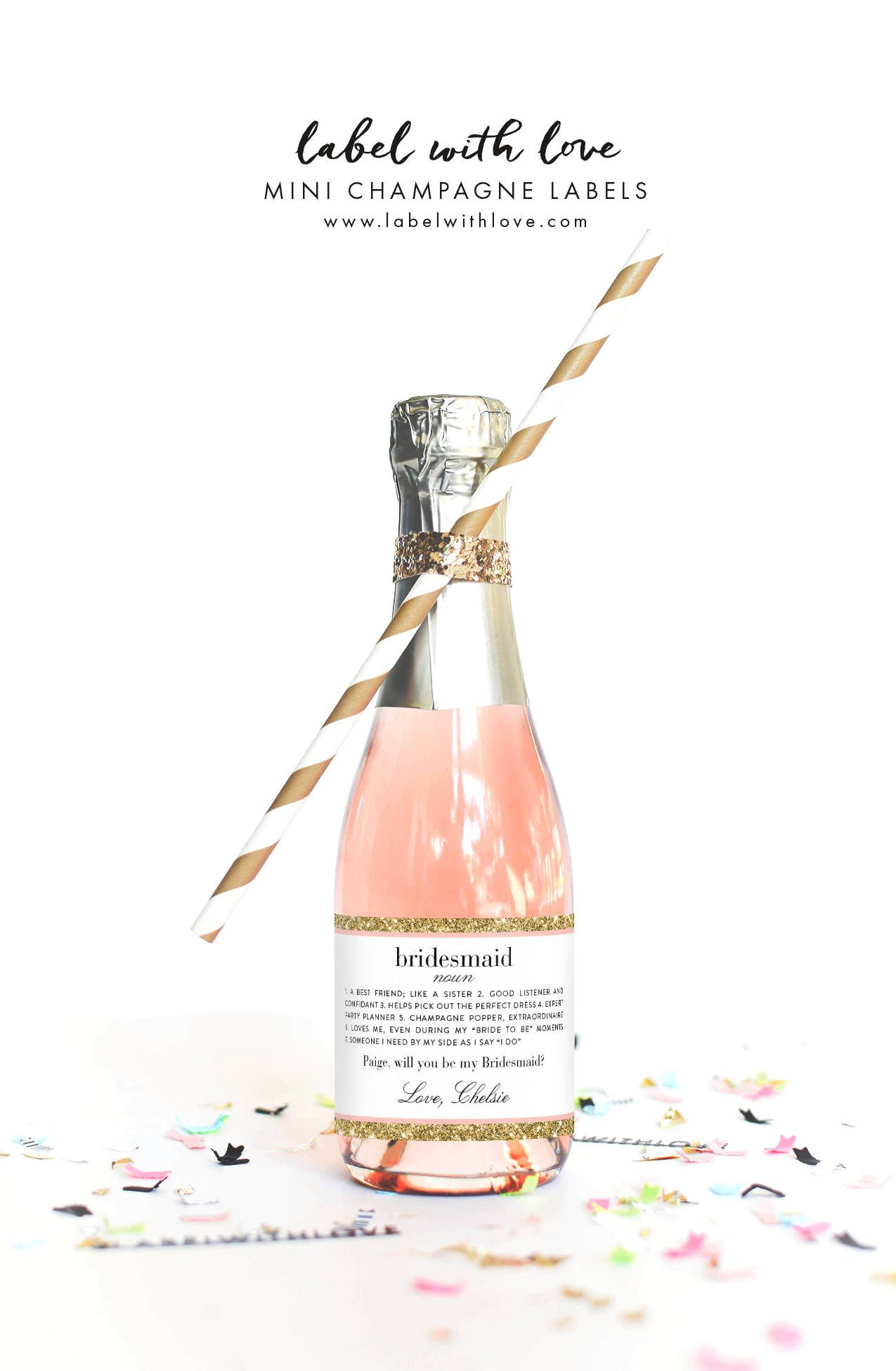 Party Proposal Propose To Your Bridesmaids With A Mini Bottle Of Champagne And A .