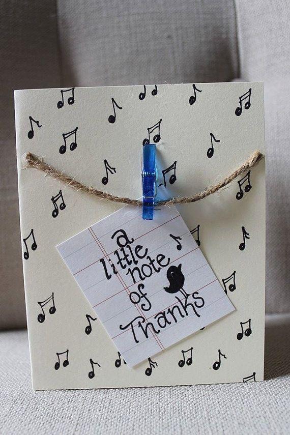 Original Diy Greeting Card Ideas Music Notes Handmade Thanking Card Ideas Greeting Cards Diy Easy Birthday Cards Diy Easy Greeting Cards