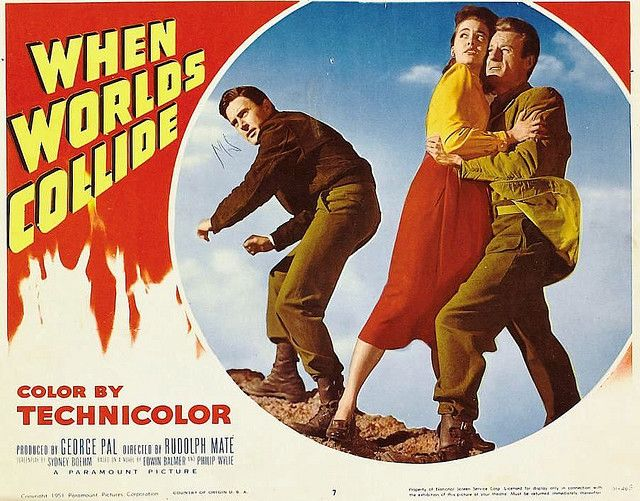 When Worlds collide 1951 cult Sci-fi movie poster print