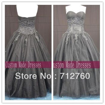 elegant new strapless sweetheart long floor length black