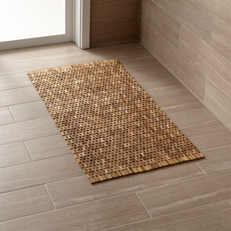 Cozy Up Your E With Bathroom Rugs From Crate And Barrel Browse A Variety Of Bath Mats That Are Soft Absorbent Quick Drying Order Online