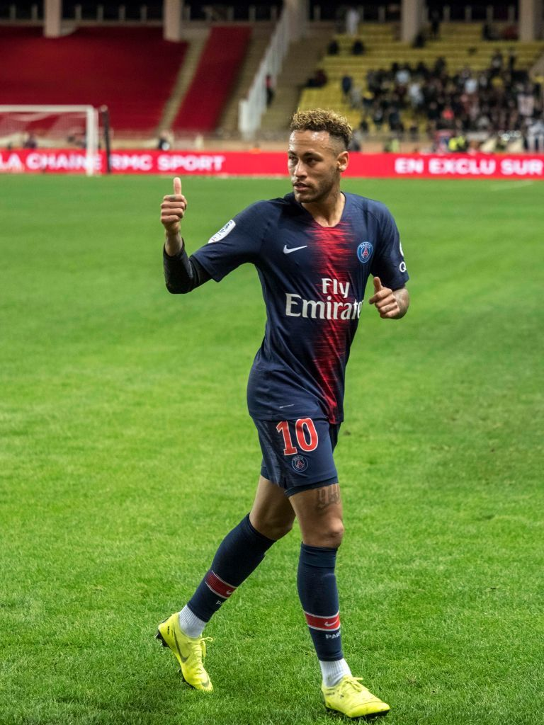 f611f9adc0690 MONACO - NOVEMBER 11: Neymar da Silva during the Ligue 1 match between AS  Monaco and Paris Saint-Germain at Stade Louis II on November 11, 2018 in  Monaco, ...